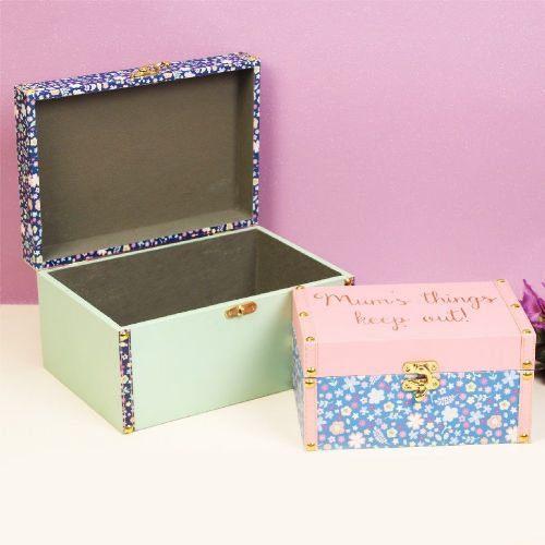 Ditsy Floral Storage Boxes - Set Of 2 Mum Storage Boxes